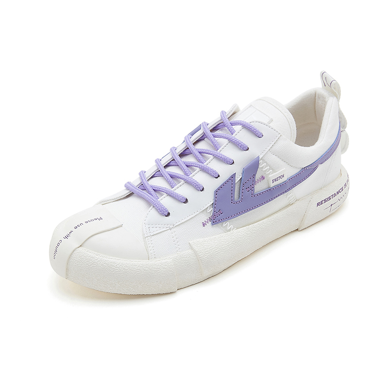 回力帆布鞋女鞋2020春季新款百搭紫色无效电阻潮夏休闲板鞋小白鞋【图3】