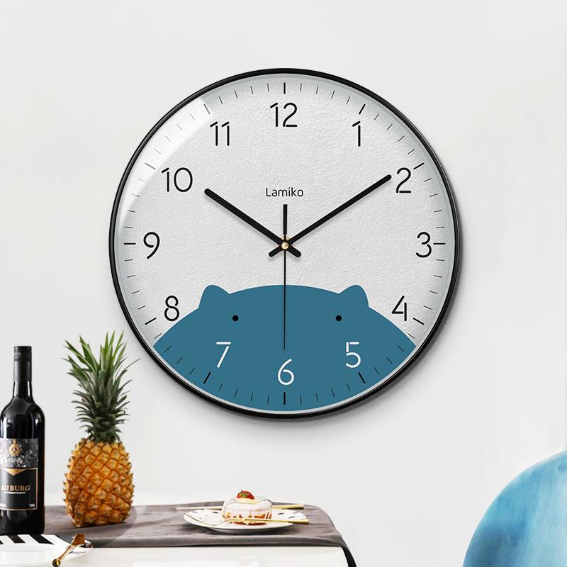北欧简约免打孔挂钟书现代轻奢家用时钟