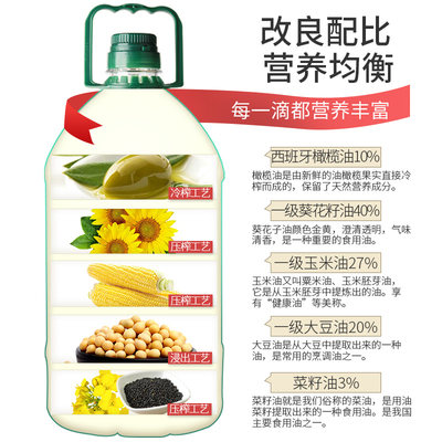 贝蒂薇兰10%橄榄油食用油非转基因色拉油调和油植物油家用大桶5L - 图2