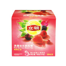 Lipton tea berry fruit tea teabag tea bag 10 independent triangular tea bag tea bags Lipton tea bags fruit
