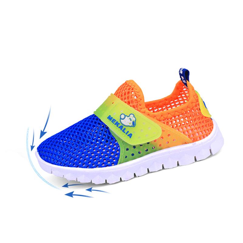 夏季儿童运动网鞋男童单网鞋女宝宝镂空透气鞋防滑魔术贴童鞋