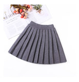 Girl pleated skirt autumn and winter skirt foreign style Korean version 13 years old 6 years old 2019 elastic waist 11 girl baby skirt tide