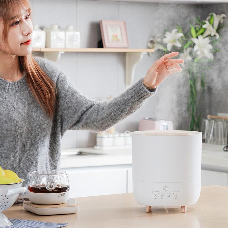 家奈香薰加湿器小型家用静音孕妇卧室净化空气冷暖雾大雾量上加水