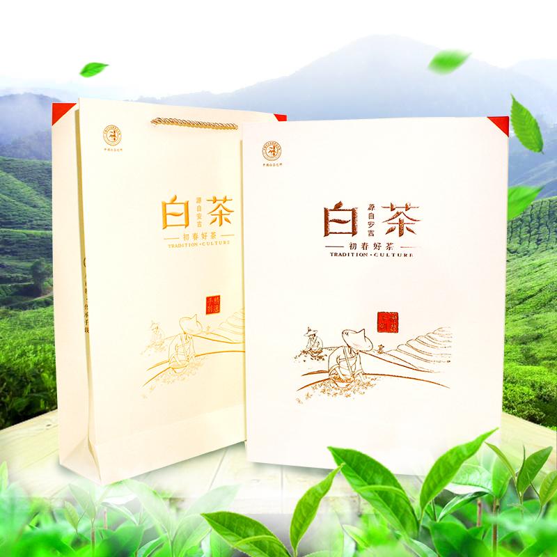 明后雨前特级茶高山茶礼盒装新茶淳源正宗安吉白茶 2019 预售