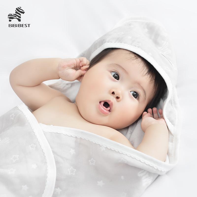 婴儿抱被新生儿包被夏季薄款初生宝宝用品被子春秋包裹巾产房包被