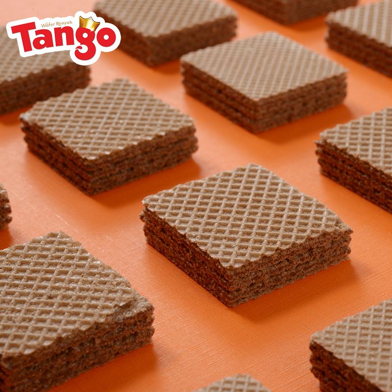 小包装零食早餐 114g 比利时巧克力味威化饼干 Tango So 印尼 Tango