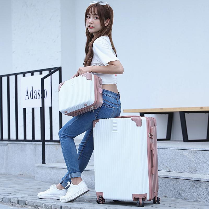 寸韩版 20 寸拉杆箱女密码皮箱旅行箱男 18 网红行李箱小型轻便登机箱