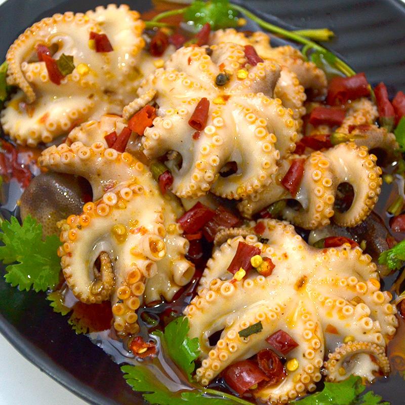 海头湾即食海鲜 香辣八爪鱼网红麻辣小海鲜迷你小章鱼八抓鱼熟食