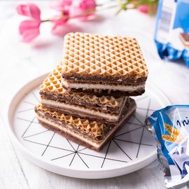 德国进口knoppers威化饼干牛奶榛子巧克力夹心24包礼盒装零食饼干