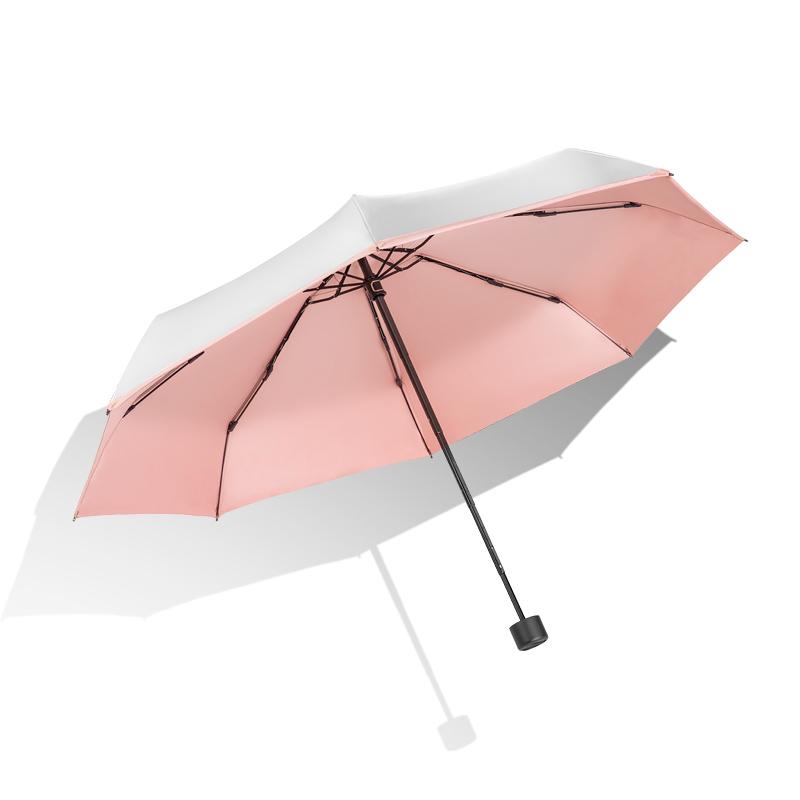 左都太阳伞女防晒防紫外线遮阳伞超轻小巧便携五折伞防晒伞upf50+