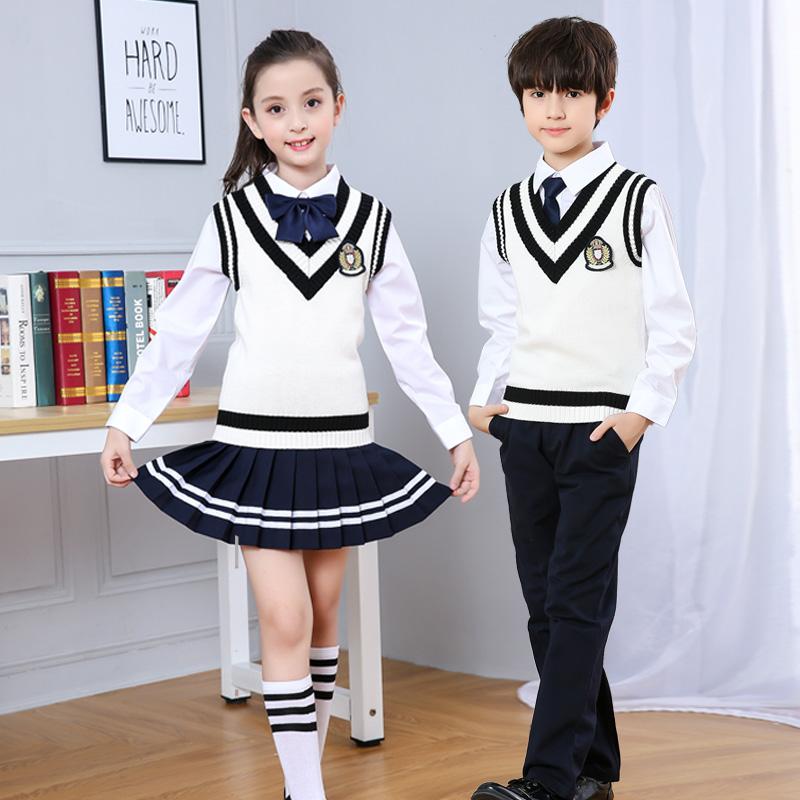 幼儿园园服儿童学院英伦风班服中小学生校服套装朗诵合唱服演出服