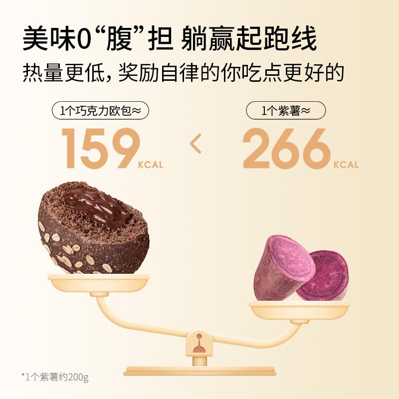 七年五季全麦面包巧克力健康零食品0低脂无蔗糖精粗粮早代餐欧包 No.3