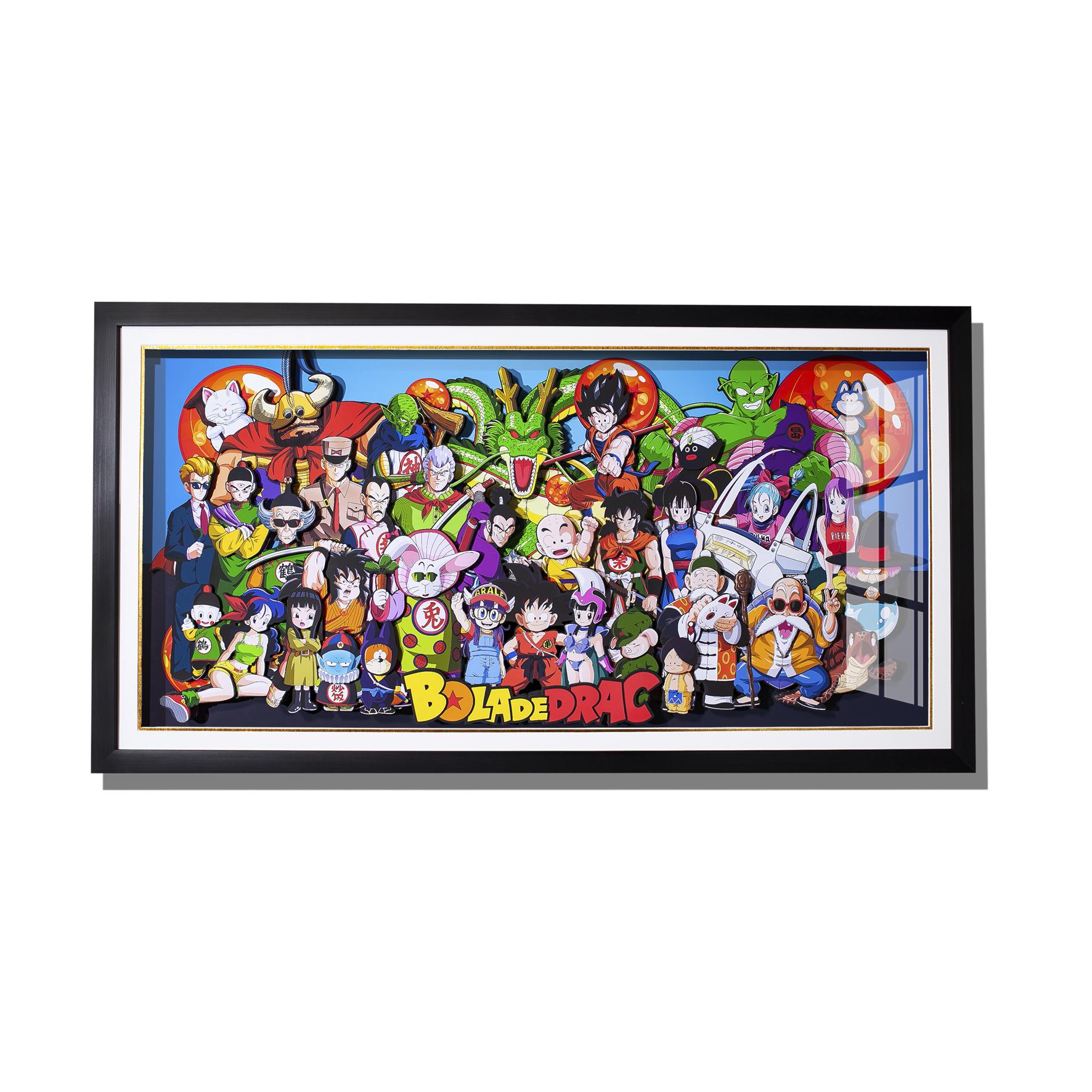 七龙珠悟空全员手办周边 纸艺立体画手工画 客厅装饰画 艺术画