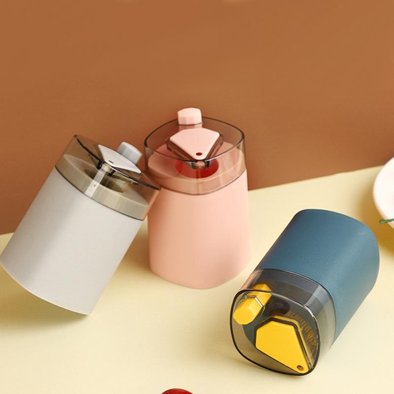 按压式自动牙签筒塑料北欧风牙签盒方形装牙签罐子酒店家用牙签盒