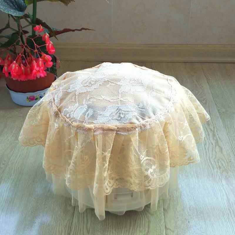 抖音蕾丝简约电饭锅帘罩 电饭煲布盖巾欧式盖巾厨房圆形电器