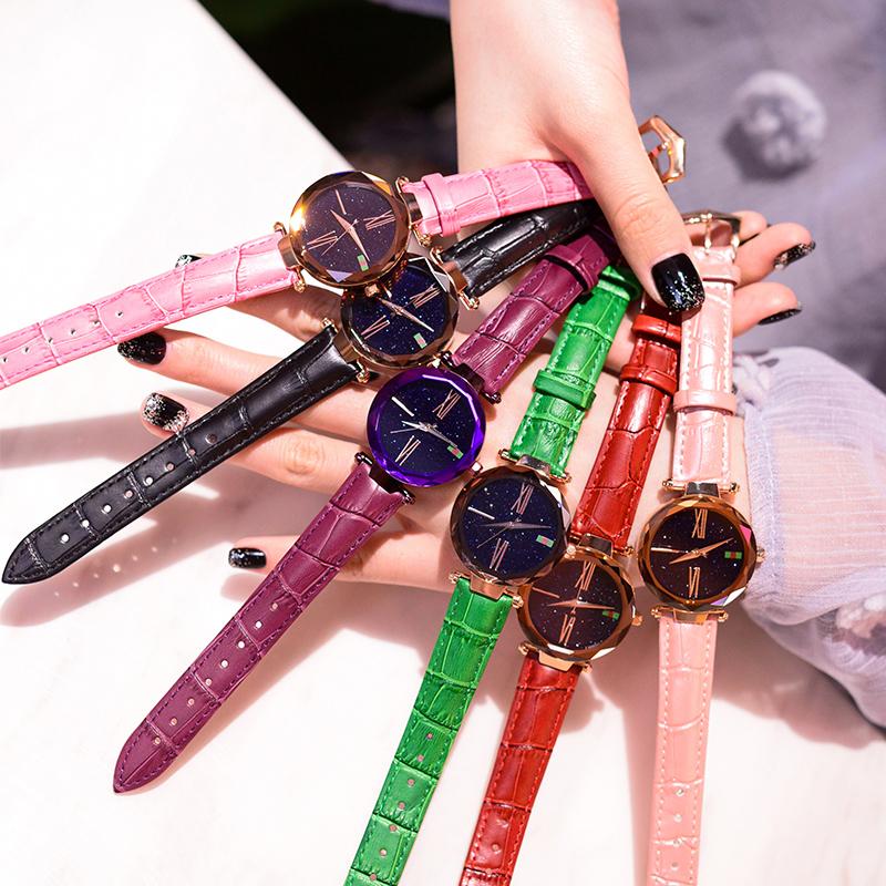 抖音手表女星空潮流迪奥同款时尚韩版新概念手表星空女皮带风森系