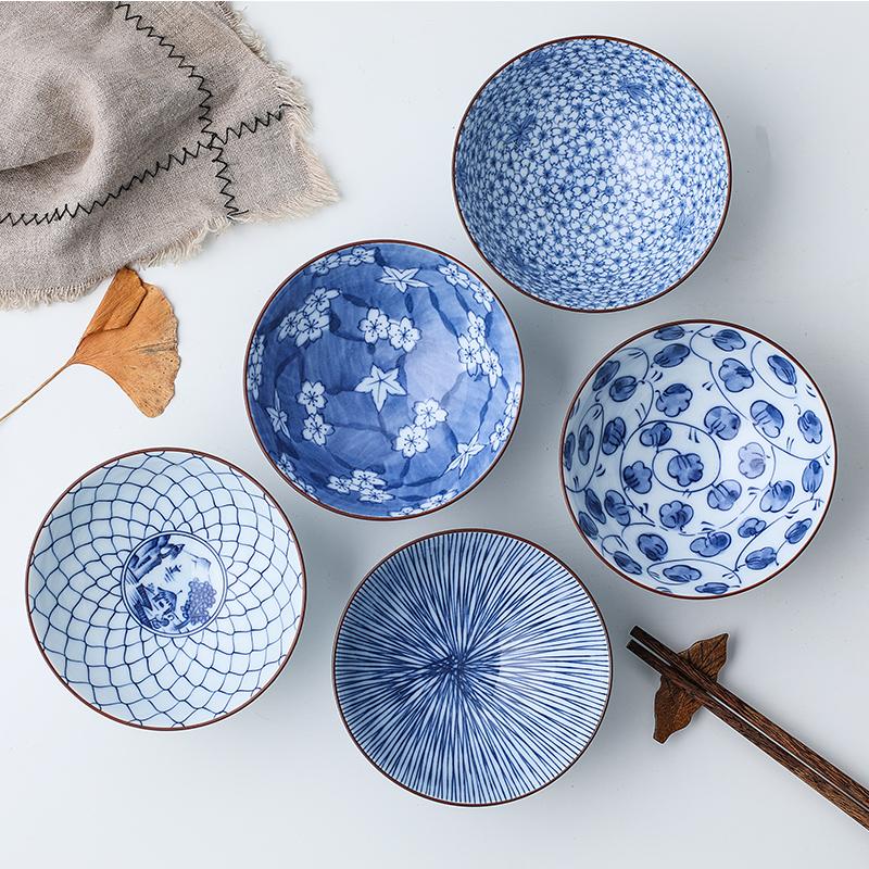 小鹿田烧日本进口家用米饭碗,家居必备小碗