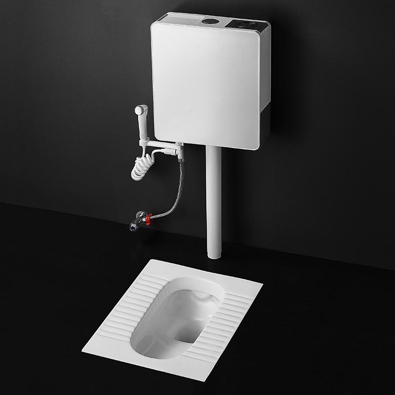 馬桶蹲便器廁所衛生間沖水箱蹲便家用抽水掛墻式加厚節能感應水箱