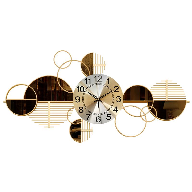 美式轻奢钟表客厅现代艺术挂表家用时钟创意时尚墙面装饰简约挂钟