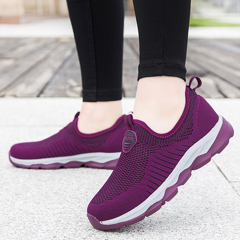 老北京布鞋女鞋夏天软底防滑运动休闲一脚蹬中老年鞋老人健步鞋子