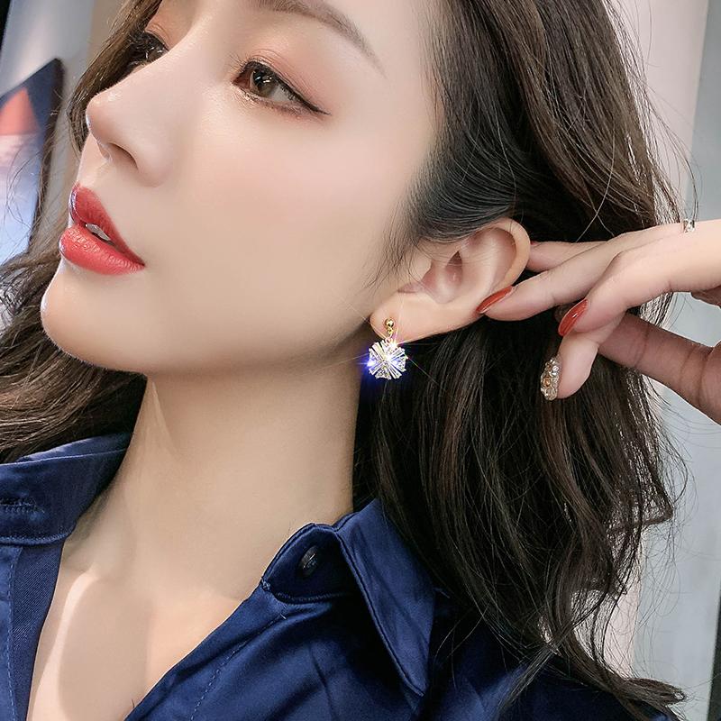 韩国耳钉高级感珍珠耳环 新款潮气质网红时尚百搭水钻耳饰品女  2019