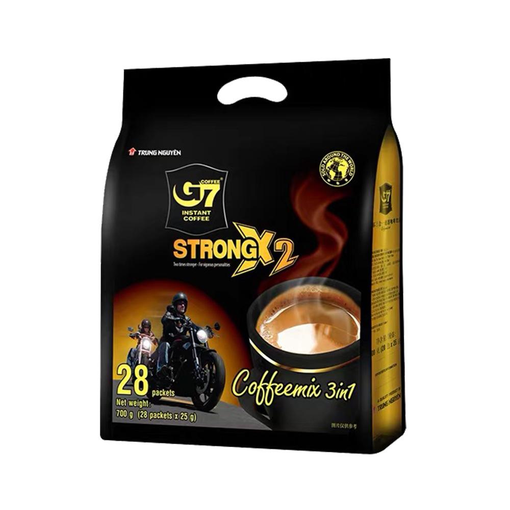 25克x28条x2件 中原 G7浓醇三合一速溶咖啡