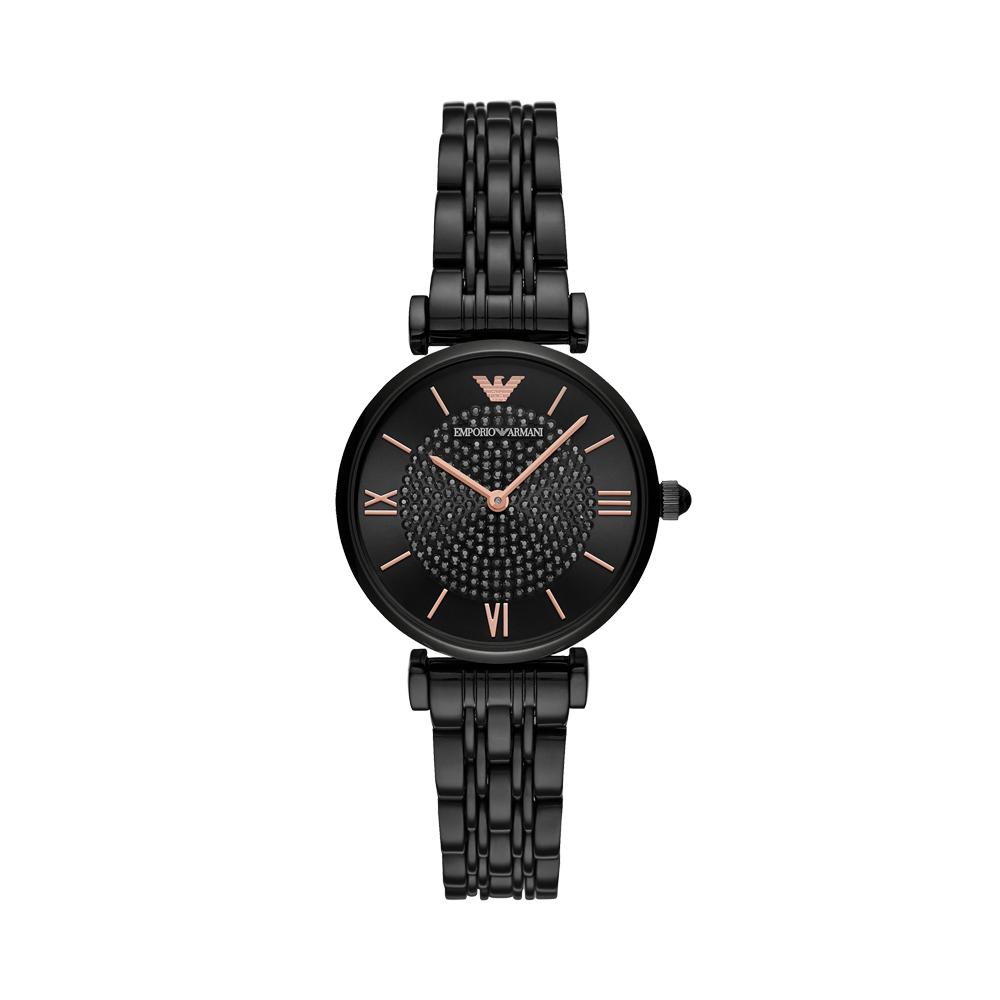 【直营】Armani阿玛尼手表女黑色镶钻佟丽娅同款满天星表AR11245