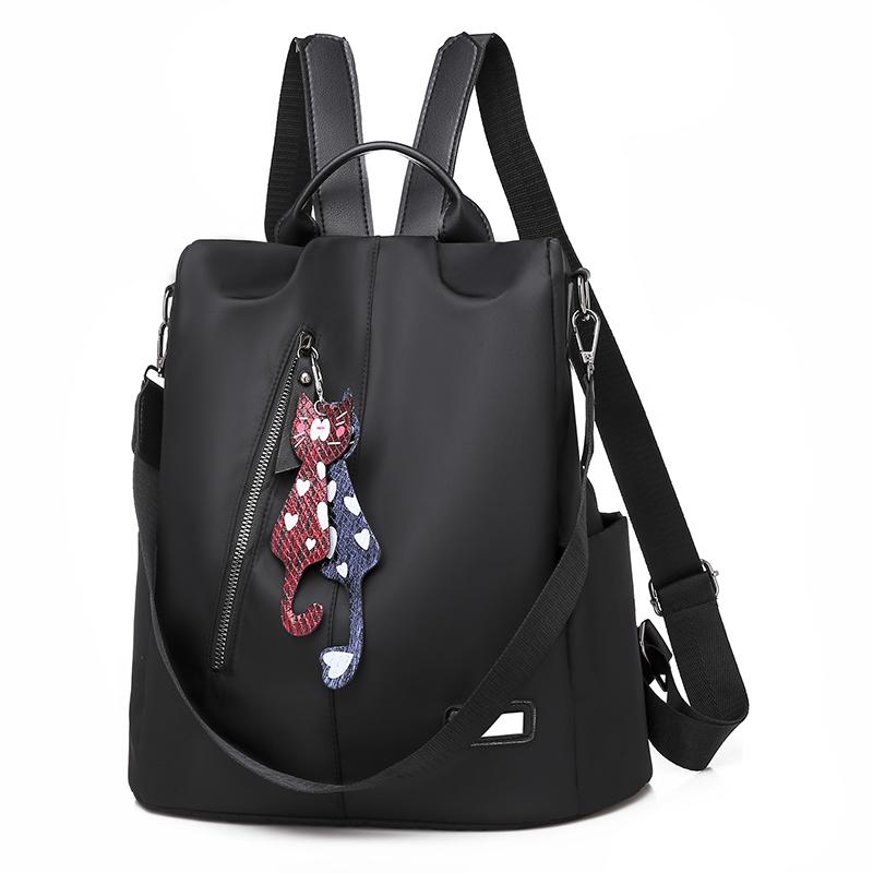 Kamel双肩包女背包新款韩版潮牛津布帆布时尚百搭书包旅行小包包