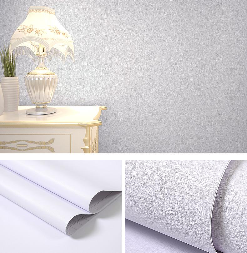 纯白色墙纸自粘防水防潮卧室温馨宿舍墙贴背景墙壁纸桌面翻新贴纸