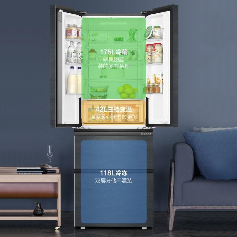 海尔法式多门四开门对开门电冰箱一级萝效节能家用变频无霜 Haier
