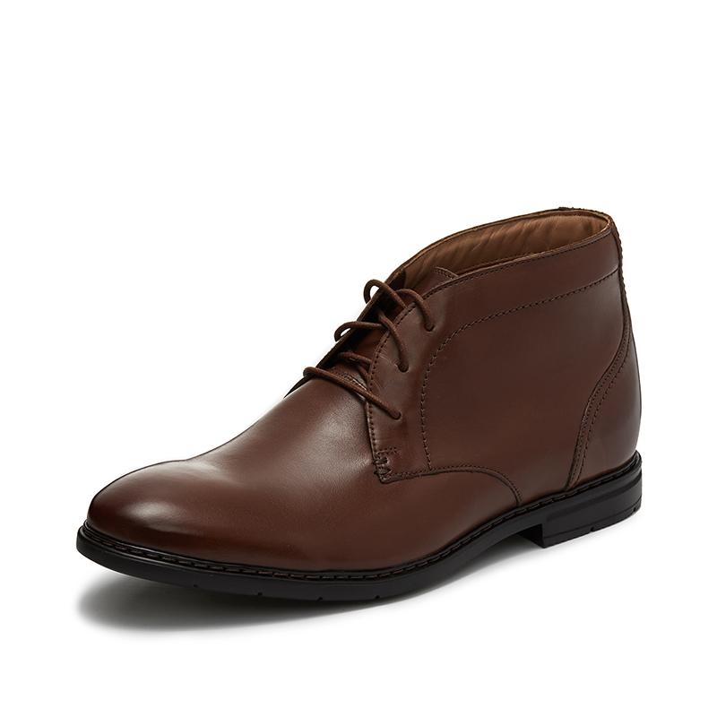 clarks其乐男鞋英伦风系带鞋短靴踝靴高帮正装皮靴高帮靴