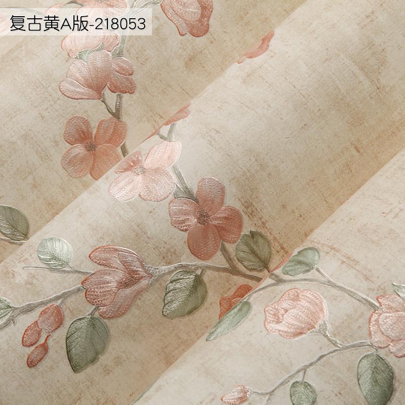立体女卧室温馨客厅壁纸纸网红电视背景 3d 无纺布墙纸自粘家用防水