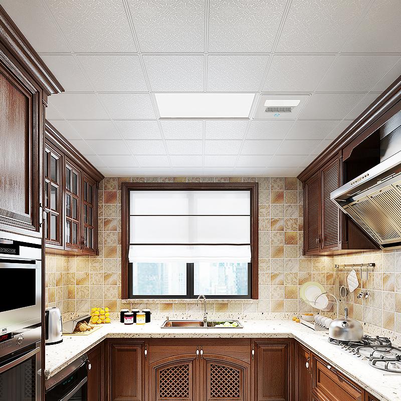 志高集成吊顶铝扣板厨房卫生间阳台餐厅造型天花板全套材料包安装