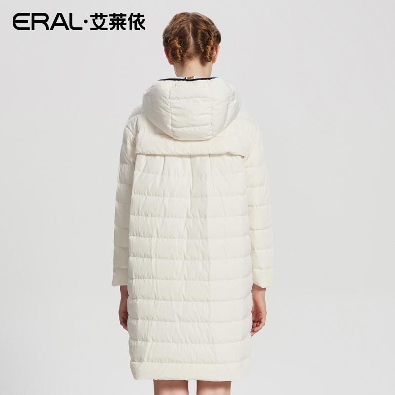 2018  FDAC 16348 ERAL 艾莱依 秋冬新品爱宠印花连帽中长款羽绒服女