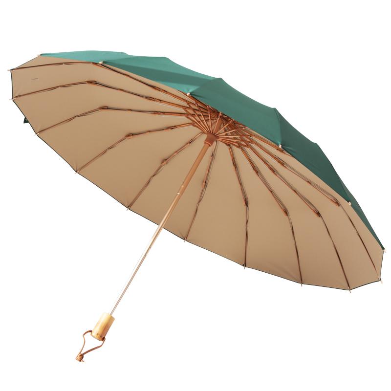 日式折疊古風晴雨傘兩用男女加固抗風大號雨傘防曬防紫外線太陽傘