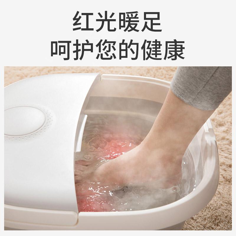 嘉喜康可折叠便携足浴盆自动按摩洗脚电动加热家用恒温泡脚桶神器