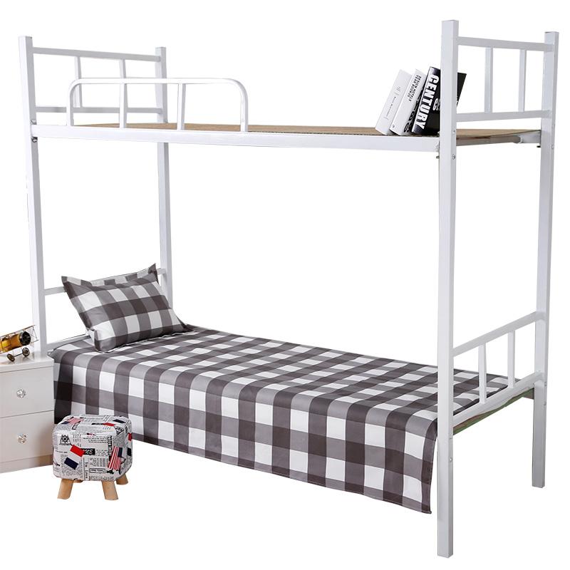 宿舍单人上下铺床单 大学生寝室单子褥单夏季格子被单1.2米0.9m主图