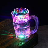 Colorful flashing LED Colorful water induction cup glass cup pineapple send girlfriends birthday gift woman pouring water on the light