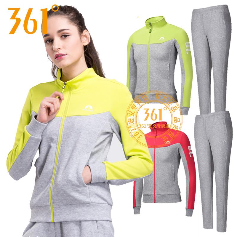 361度女装运动套装春季运动服361运动休闲卫衣跑步套装女套装y