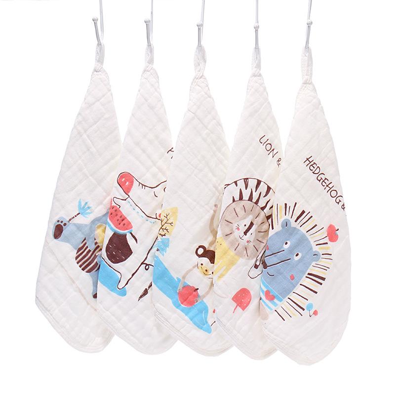 寶寶口水巾超柔洗臉小方巾純棉紗布新生嬰兒手帕毛巾喂奶圍嘴兒童