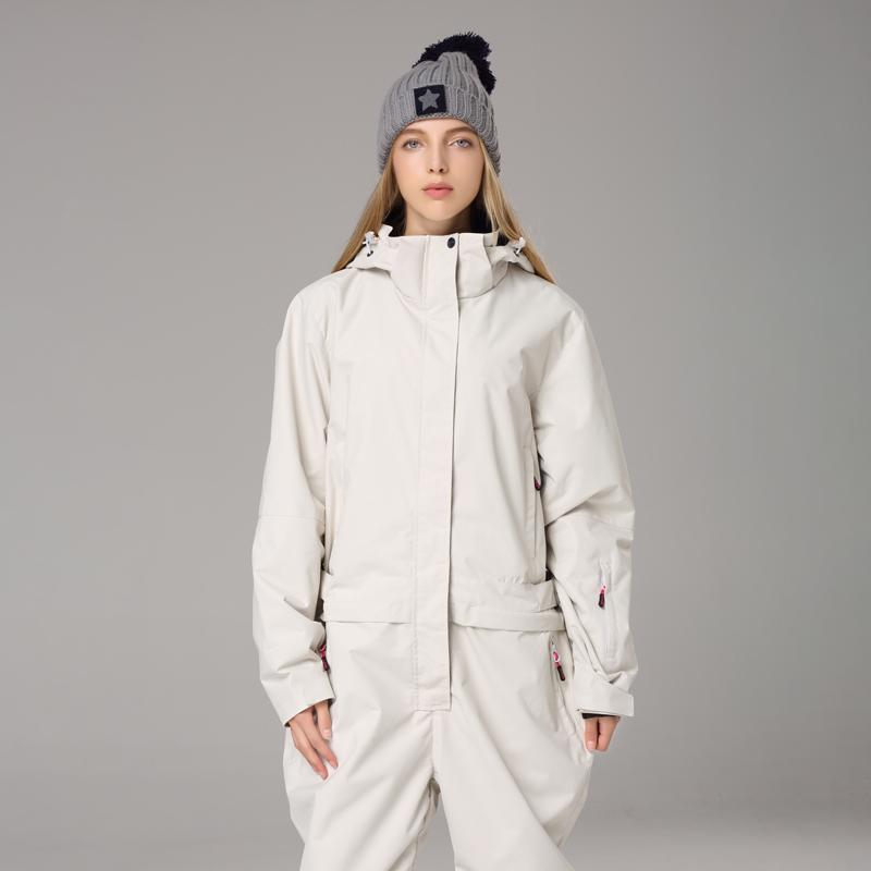 情侣款工装单板连体滑雪服男女双板防水保暖滑雪衣裤套装潮牌 19N