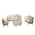 Nordic wrought iron sofa coffee table combination ins net red clothing store shop light luxury modern leisure deck table and chair