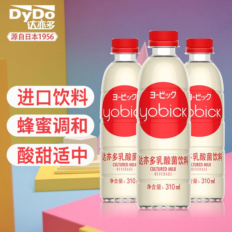 蜂蜜+奶粉+益生菌:310mlx12瓶 日本 达亦多 进口乳酸菌饮料