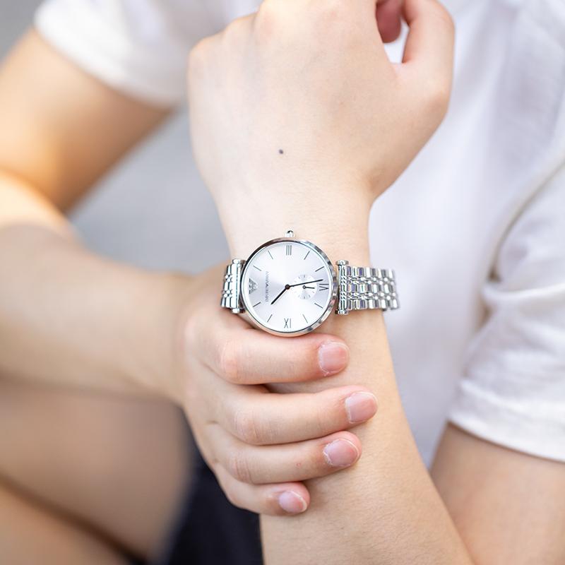 Armani阿玛尼手表满天星镶钻女款石英腕表男女情侣对表石英表