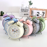 Oversized sound small alarm clock students with the mute bedside creative personality lazy simple children's night light swing siphone alarm