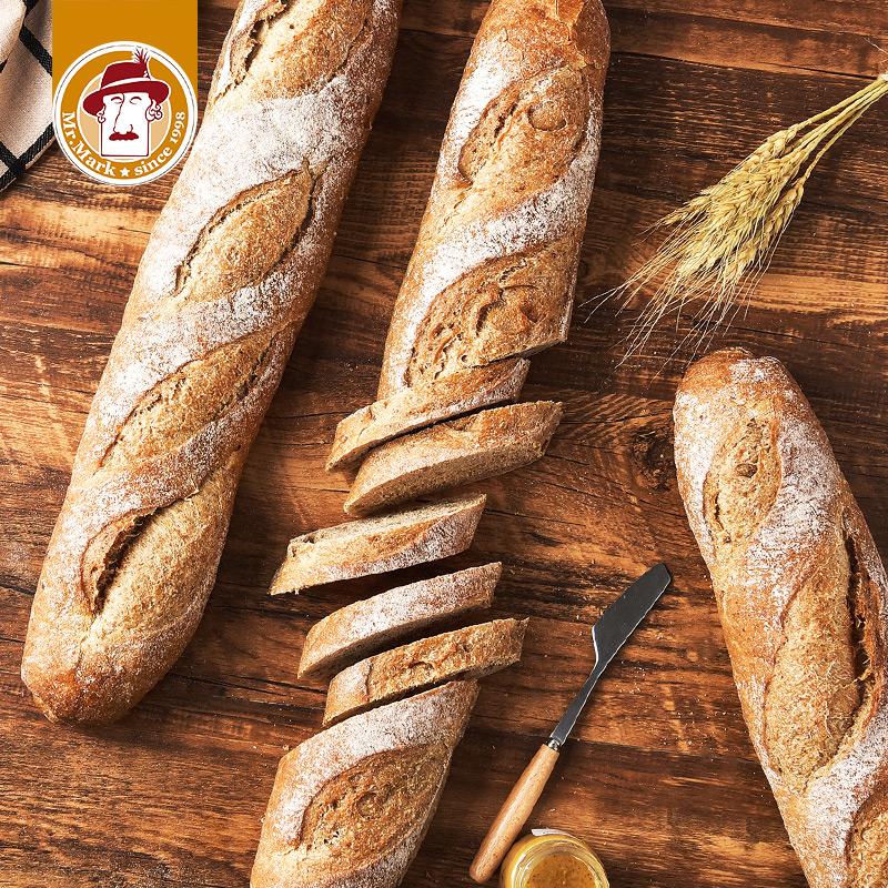 马可先生法棍面包全麦无蔗糖无油饱腹早餐健身代餐法式长条硬欧包,免费领取10.00元淘宝优惠卷