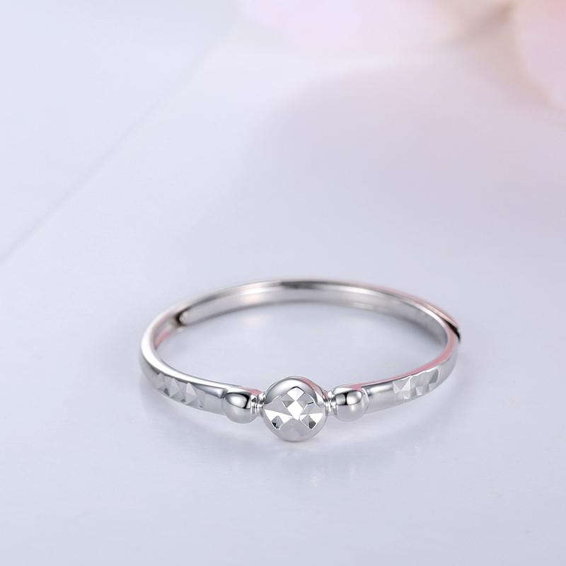 卡铂亚 PT950铂金戒指白金指环活口女款时尚珠宝首饰结婚订婚婚戒