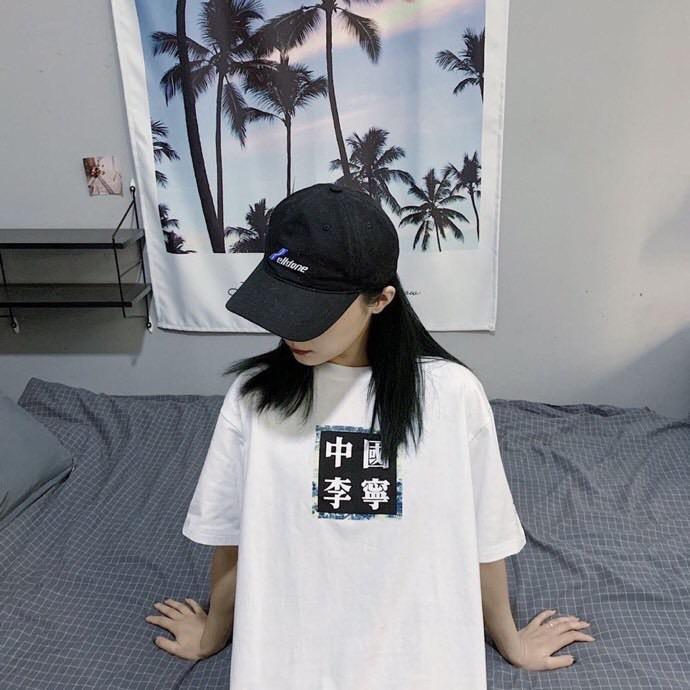 ✅中国李宁短袖国潮夏季新款行至巴黎时装周青花瓷情侣男女宽松T恤