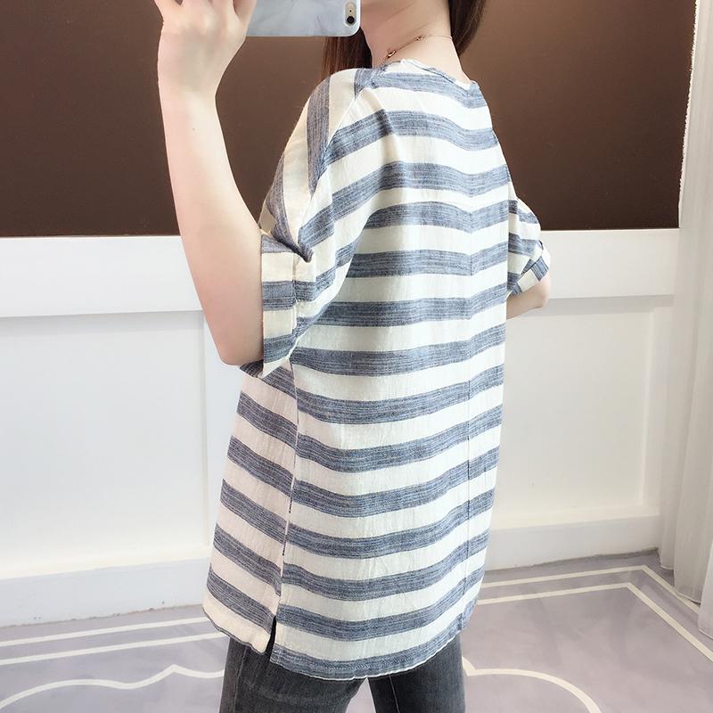 夏装2021新款女士短袖t恤夏季女装宽松设计感小众短款上衣ins潮主图