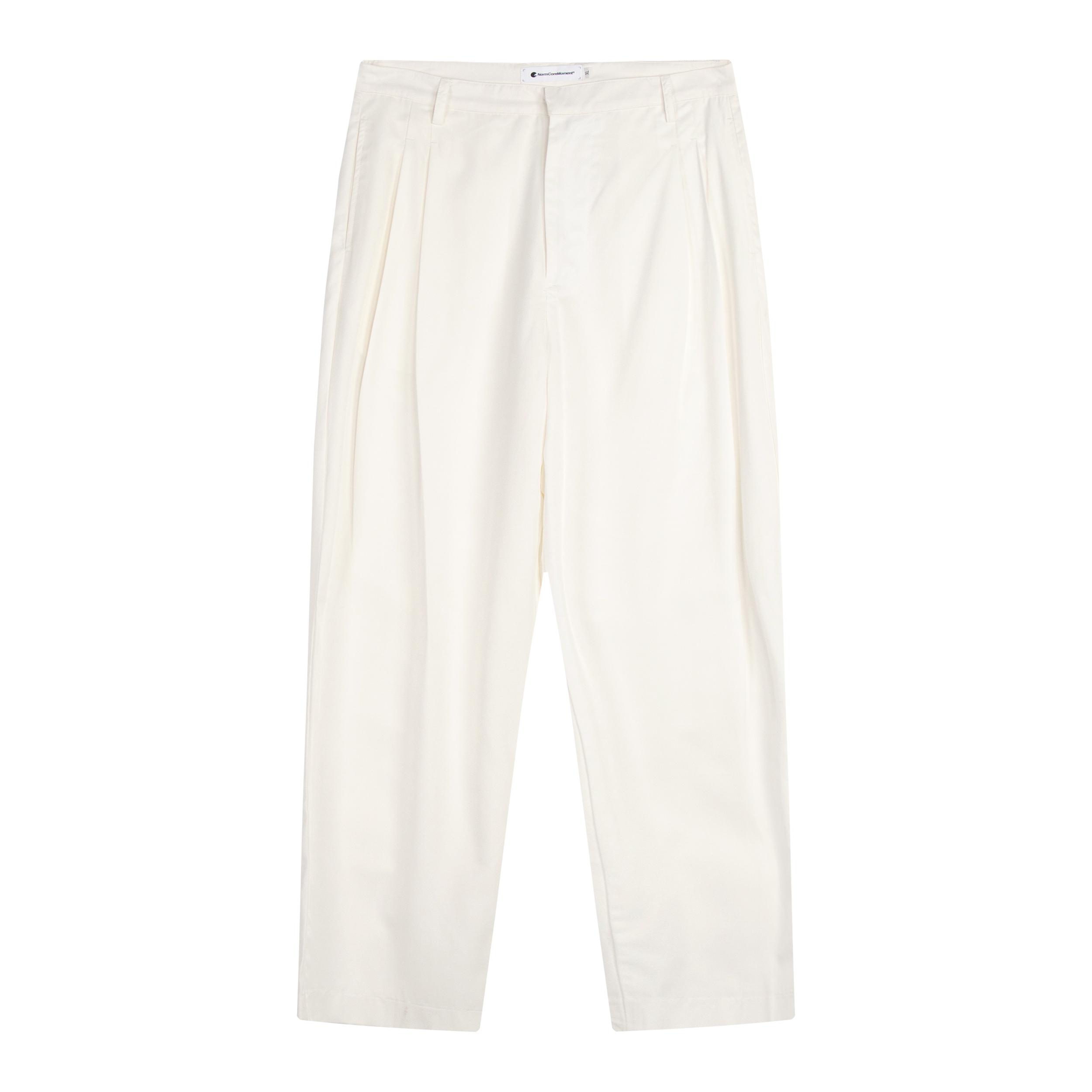 NormCoreMoment极简山本宽松廓形休闲柔软垂坠感双褶西裤丝滑光泽